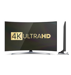4k tv screen uhd sign tv ultra hd vector