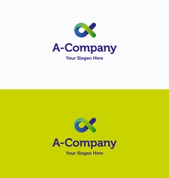 A Company logo vector image