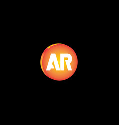 A r joint letter logo design vector