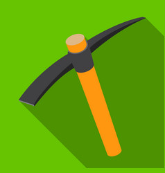 a wooden pickaxe with an iron tipthe tool that vector image