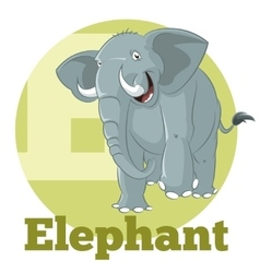ABC Cartoon Elephant3 vector image