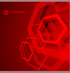 abstract geometric overlapping hexagon shape vector image
