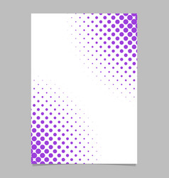 abstract halftone dot pattern brochure background vector image