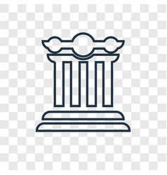 ancient concept linear icon isolated on vector image