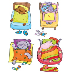 animals sleep vector image