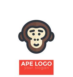 ape chimp logo element vector image