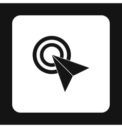 Arrow cursor icon simple style vector