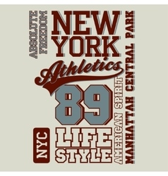 Athletic sport t-shirt graphics vector image