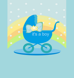 baby card - its a boy vector image