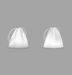 backpack bag with drawstrings vector image
