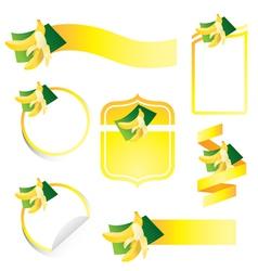 Banana Label Set vector image