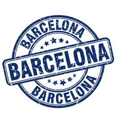 Barcelona stamp vector