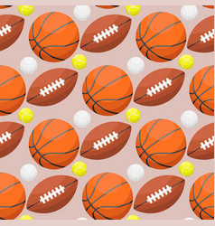 basketball ball activity leisure sport seamless vector image