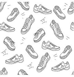 Boots doodle seamles pattern vector