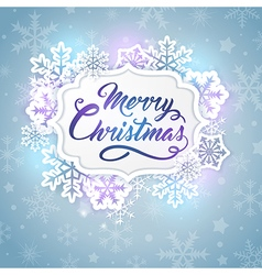 Christmas banner with greeting inscription vector
