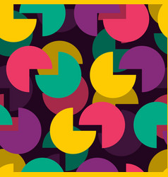 circle abstract retro pattern round background vector image