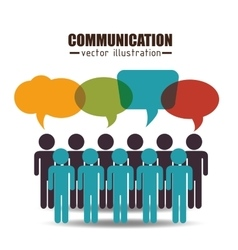 communication concept design vector image