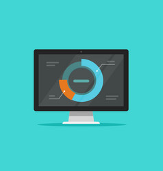 Computer data analytics flat vector