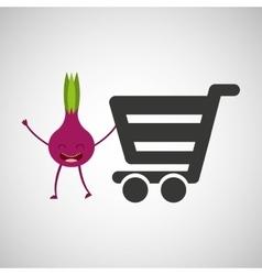 concept market buy fresh beet vector image