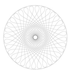 Contour circle guilloche pattern flat graphics vector