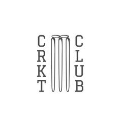 Cricket club emblem design logo badge vector