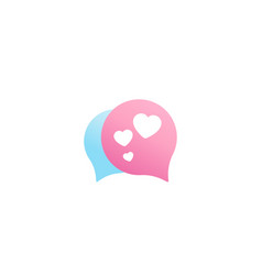dating app love chat logo icon vector image