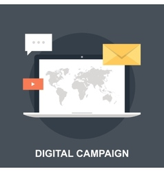 Digital Campaign vector image
