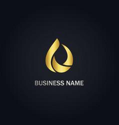 Droplet abstract design logo vector
