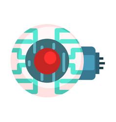 Electronic eye for android human organ replica vector
