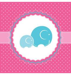 elephant bagreeting card vector image