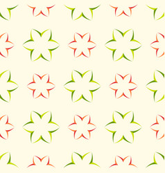 Floral seamless pattern with geometric flower vector