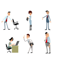 funny business characters vector image