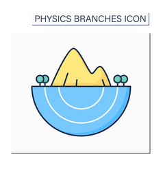 Geophysics color icon vector