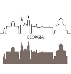 georgia vector image