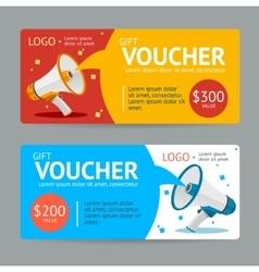 Gift VoucherFlat Design vector image
