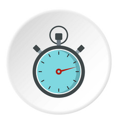 gray stopwatch icon circle vector image