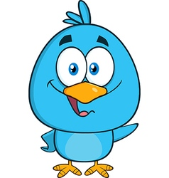 Happy Blue Bird Cartoon vector image