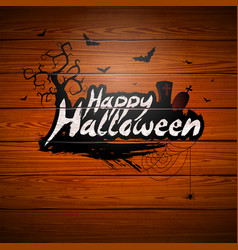 happy halloween with vector image