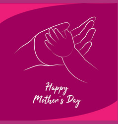 Happy mothers day concept vector