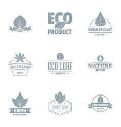 Herb logo set simple style vector