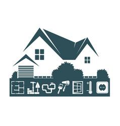 Home construction design vector