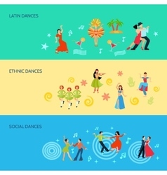 Horizontal Flat dance Style Banners vector image