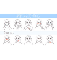 Hydrogel eye patches collagen eye mask vector