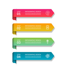 Infographic arrows set 4 elements vector