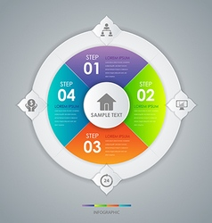 Infographic design circle concept vector