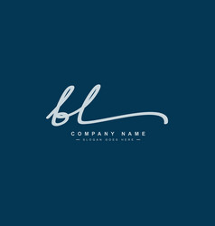 Initial letter bl logo - hand drawn signature logo vector