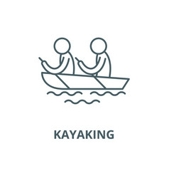 kayaking line icon linear concept outline vector image