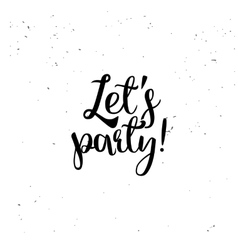 Lets party element vector