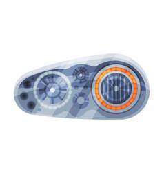 Modern auto car headlights brake rare headlamps vector