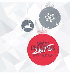 New year 2015 card white vector